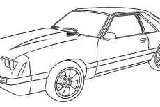 1966 Mustang Car Coloring Pages : Best Place to Color