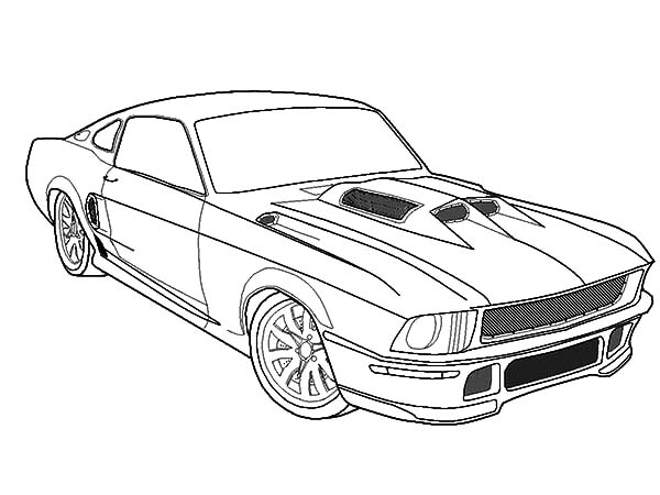 Fast Car Mustang Coloring Pages : Best Place to Color