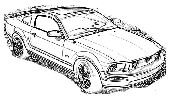 2015 Ford Mustang Coloring Pages Sketch Coloring Page
