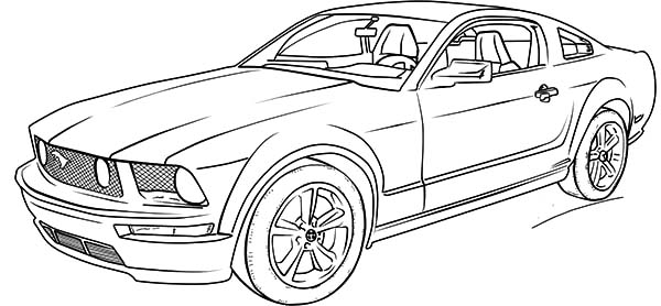 Ford Mustang GT Car Coloring Pages : Best Place to Color