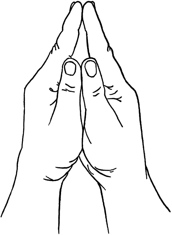 Prayer Hands Coloring Pages Coloring Pages