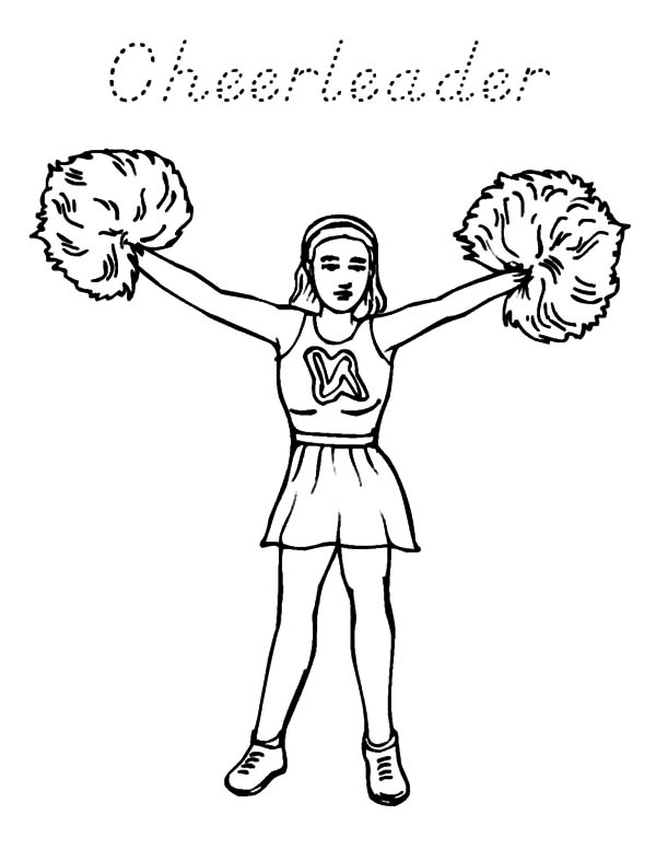 High School Cheerleader Coloring Pages : Best Place to Color
