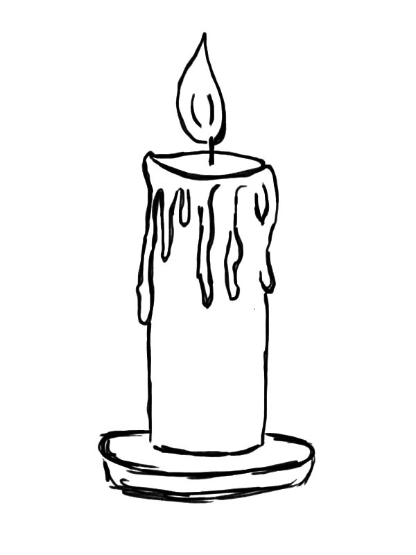 Free candle outline coloring pages