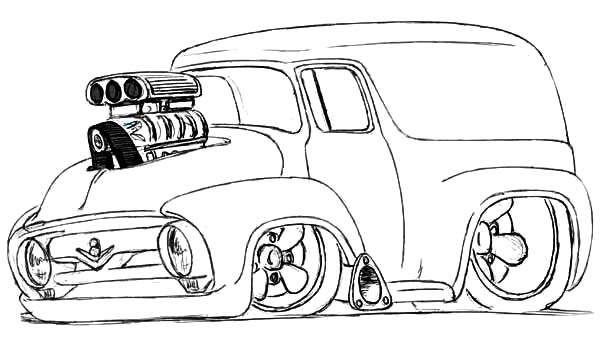 Modified Chevy Cars Coloring Pages : Best Place to Color