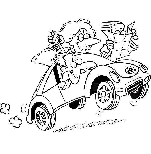 Mommy Driving A Rally Car Coloring Pages : Best Place to Color
