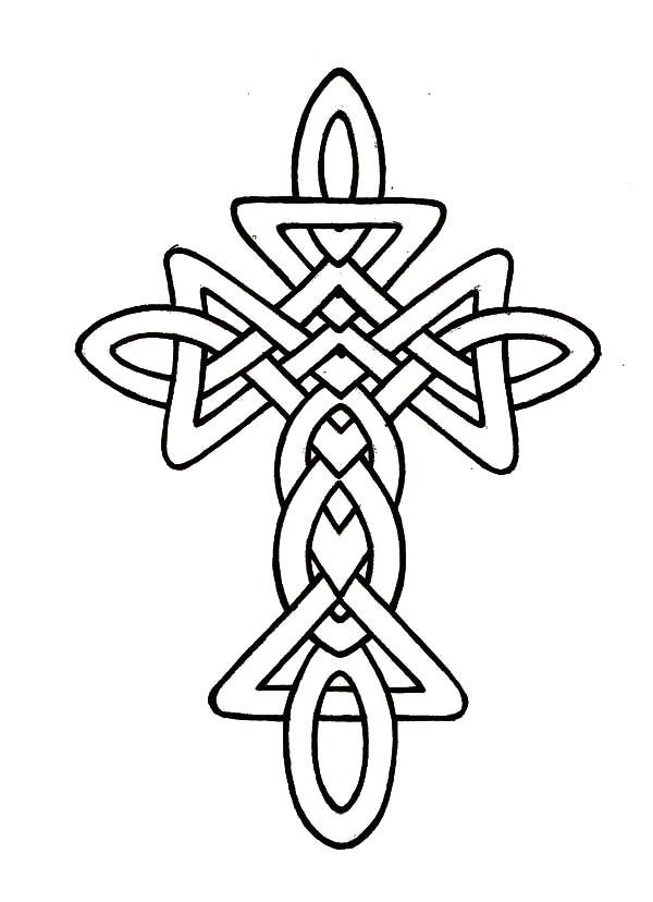 celtic letter j coloring pages