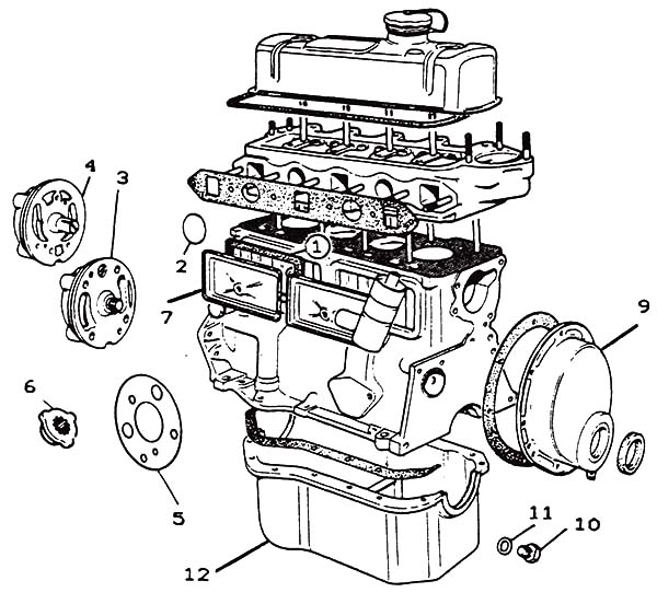 Morris Minor Engine Parts Car Diagram Coloring Pages