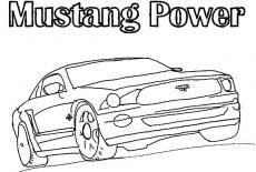 1969 Boss Mustang Car Coloring Pages : Best Place to Color