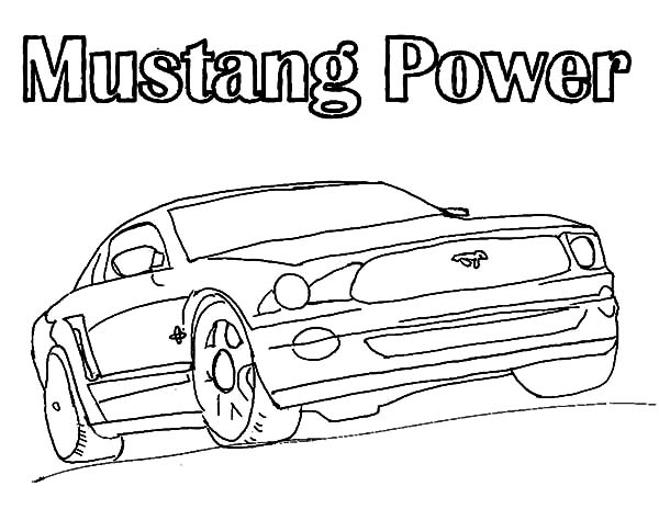 Mustang Car Picture Coloring Pages : Best Place to Color