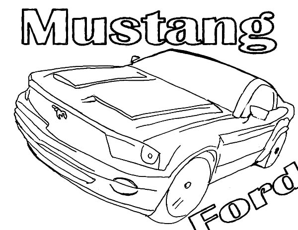 Ford Mustang Shelby Cobra GT 500 Coloring Pages: Ford