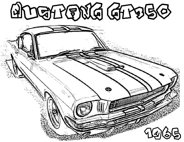 Ford Mustang GT Fastback 1968 Coloring Pages: Ford Mustang