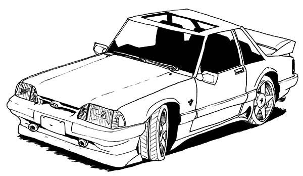 Old Car Mustang Coloring Pages : Best Place to Color