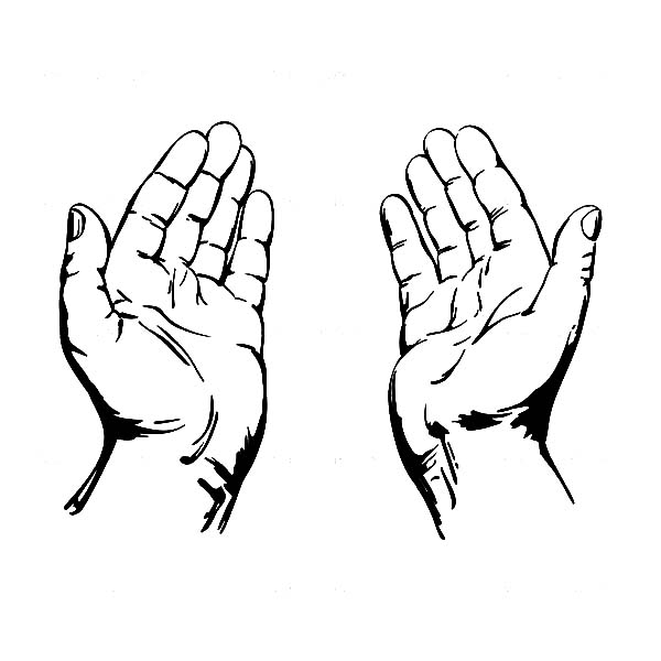 Jesus Open Hands Coloring Pages