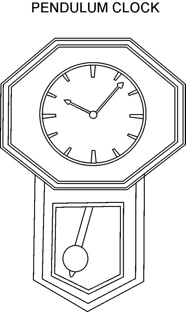 Pendulum Clock Coloring Pages : Best Place to Color