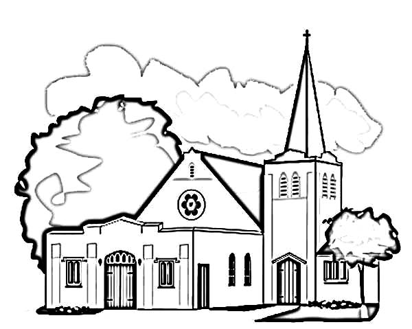 Tent Church Coloring Page Coloring Pages