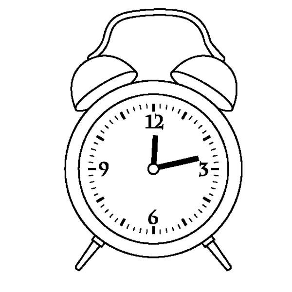 Preschooler Clock Coloring Pages : Best Place to Color