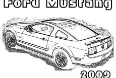 Ford Mustang GT Fastback 1968 Coloring Pages : Best Place
