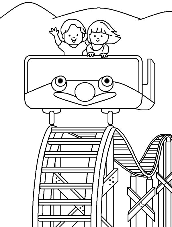 Roller Coaster Coloring Book Coloring Pages