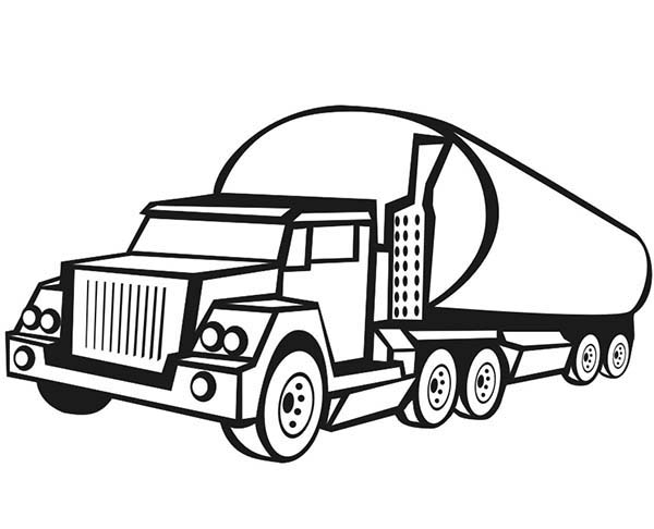 Pin Transport Truck Colouring Pages Page 2 on Pinterest