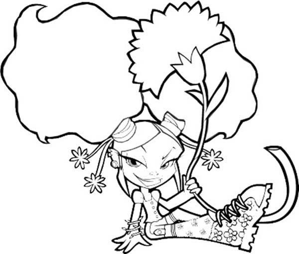 Sitting Shepherd Coloring Pages