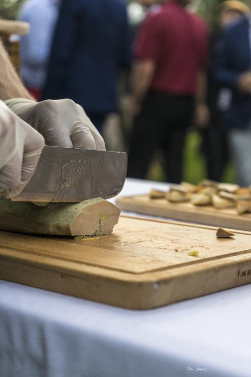 Traiteur Toc Toque, Découpe du foie gras, Mariage au Domaine de Villary, Nîmes