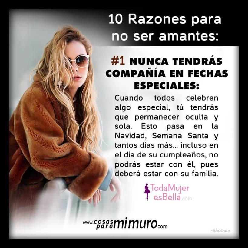 10 Razones Para No Ser Amantes