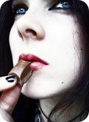 Mujer y el chocolate
