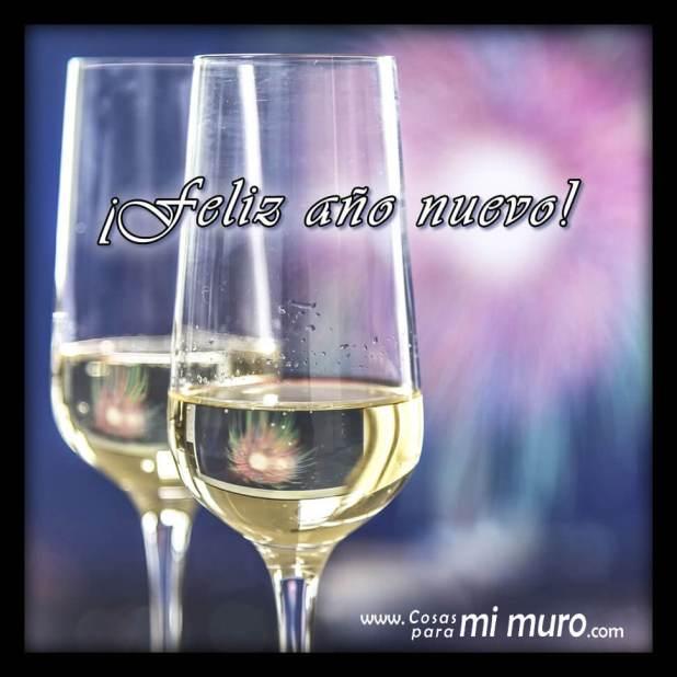 ¡Feliz año nuevo! - Copas de champán