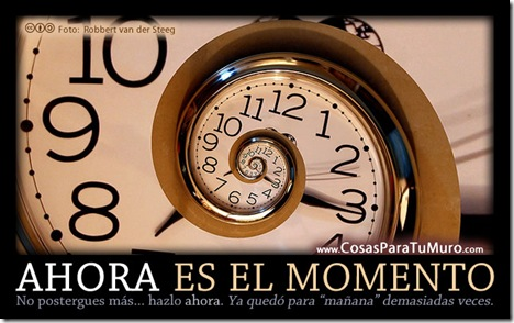 AHORA es el momento