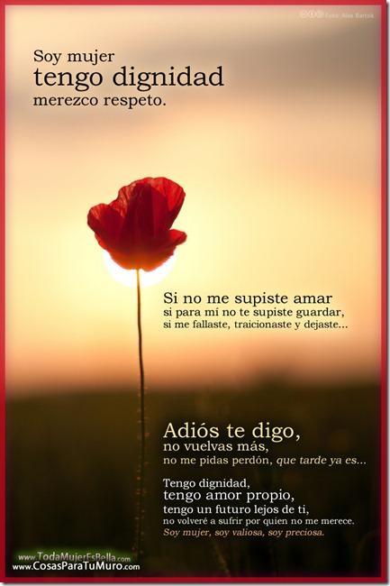 Soy mujer, tengo dignidad, merezco respeto.