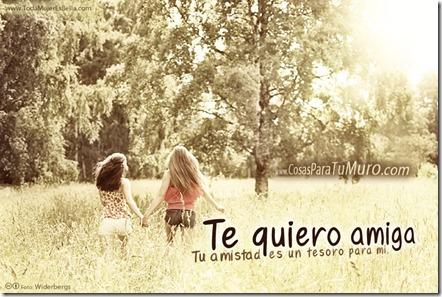 Te quiero amiga