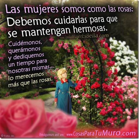 Las mujeres somos como rosas