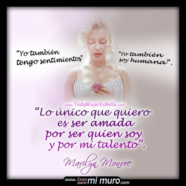 Frase de Marilyn Monroe sobre su autoestima