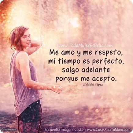 Me amo y me respeto