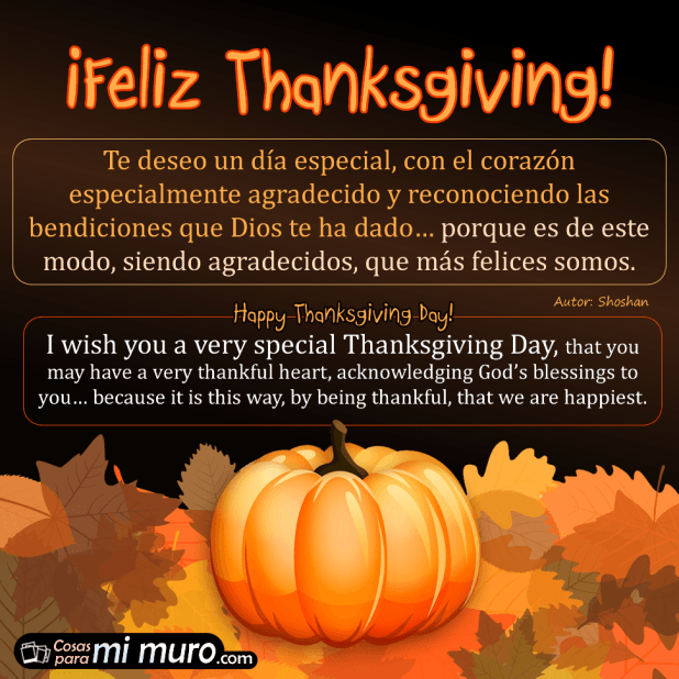Deseos de feliz Thanksgiving
