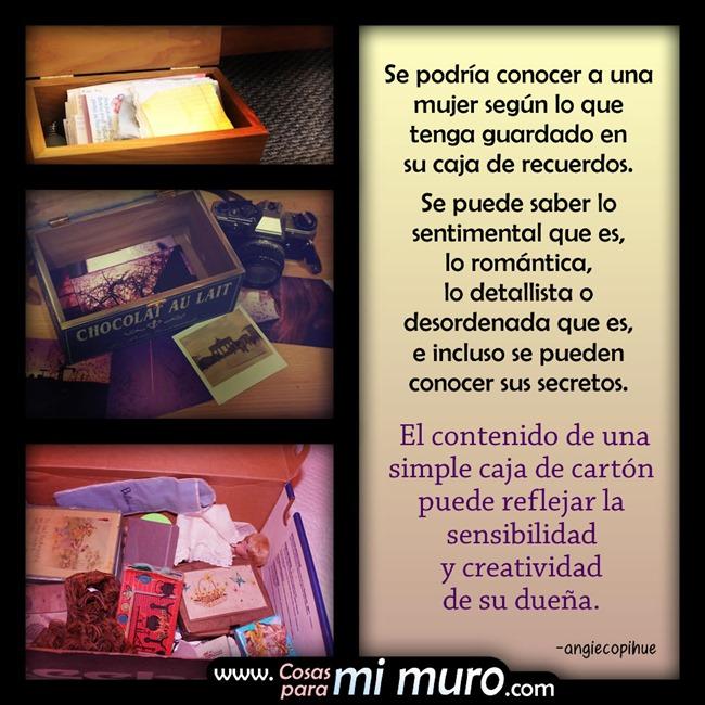 La caja de recuerdos de una mujer