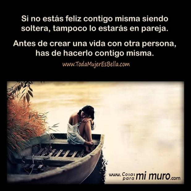 Sé feliz sola, para ser feliz en pareja