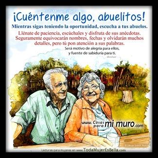 Les escucho abuelos