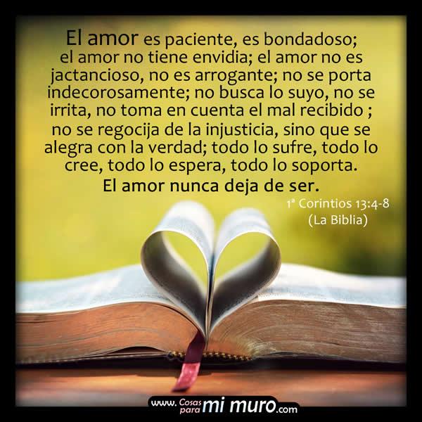 El amor según la biblia en corintios