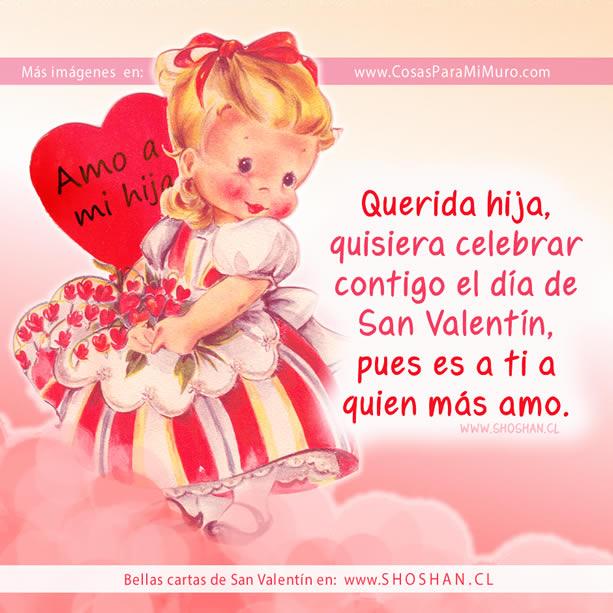 Carta de San Valentín para mi hija