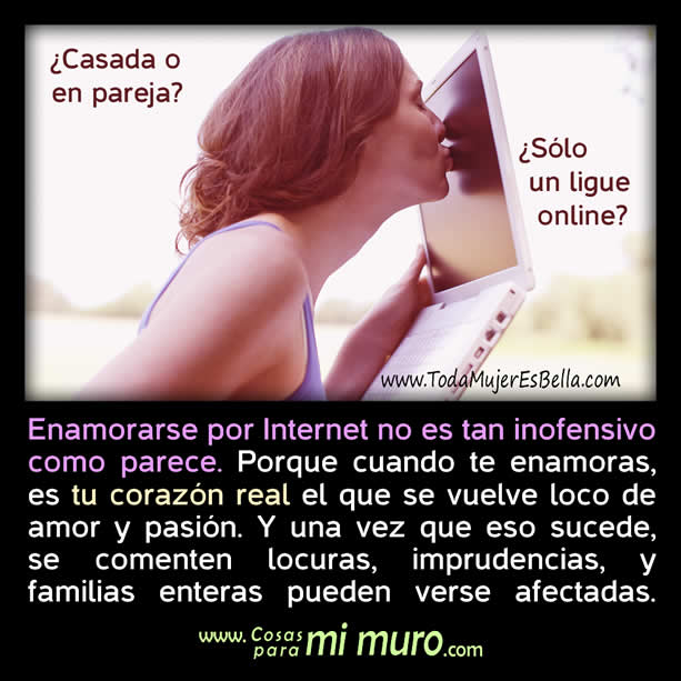 enamorarse por internet no es tan inofensivo