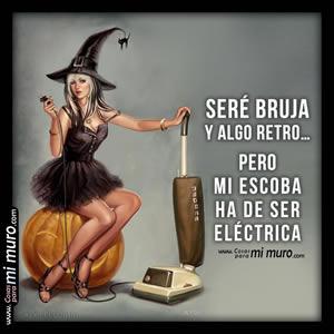 Soy bruja de Halloween... pero de escoba eléctrica