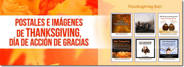 Postales de Thanksgiving