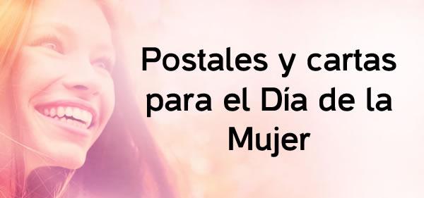 Postales y cartas para el Día de la Mujer