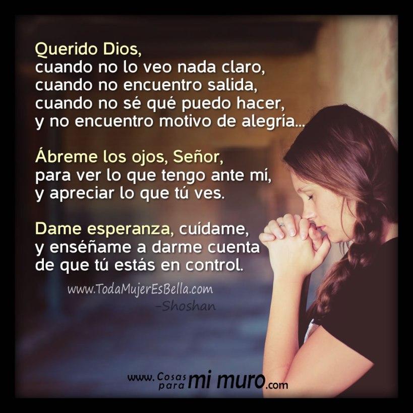 Oración para ver lo que Dios tiene para mí