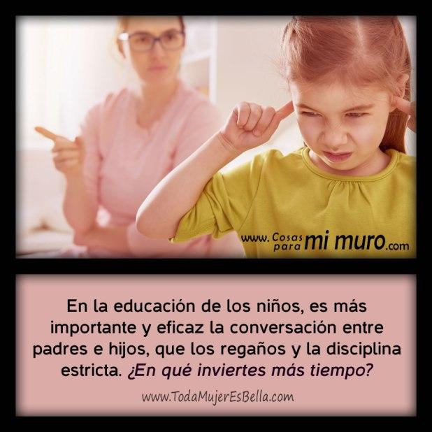 ¿Qué haces más? ¿Conversar o regañar a los hijos?