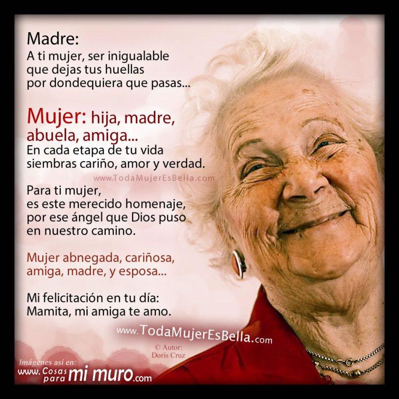 A mi madre: ¡Feliz día de la mujer!