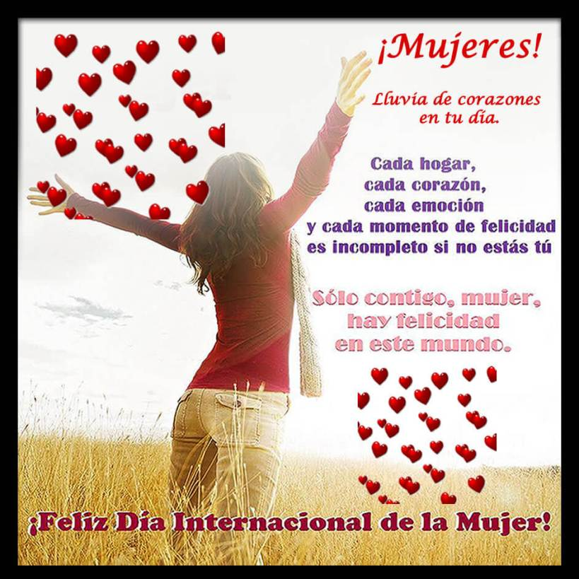 ¡Feliz día Internacional de la mujer!