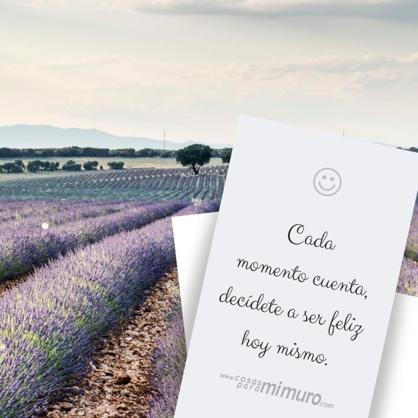 Cada momento cuenta, decídete a ser feliz hoy mismo