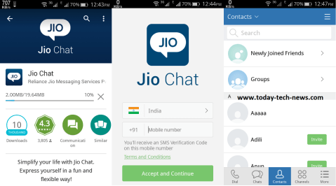 Jio Chat apk download